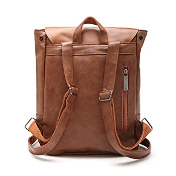 Good&god Pu Crazy Horse Leather-Like Vintage Women's Backpack School Bag 2