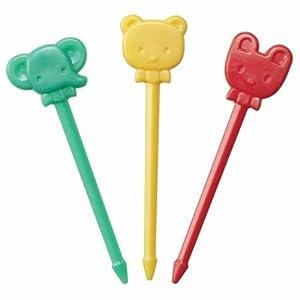 Pincho tenedor comida bento conejo elefante oso fiambrera   Más información y revisión del cliente