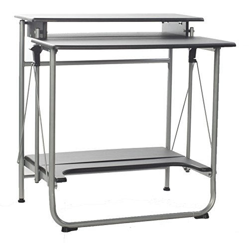 Comfort Products 50-1010QA Freeley Folding Computer Desk (Computer Desk Stainless Steel compare prices)