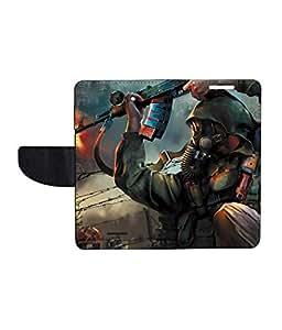 KolorEdge Printed Flip Cover For HTC Desire 516 - Multicolor(50KeMLogo8285HTC516)