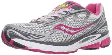 Saucony Women's Progrid Ride 5 Running Shoe,White/Red/Grey,5 M US