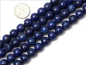 10mm Round smooth surface lapis lazuli gemstone beads strand 15