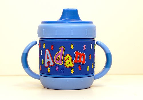 Personalized Sippy Cup: Adam front-989503