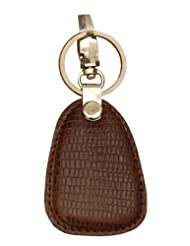 RL Kc 9- Br Brown Leather Cone Keychain For Unisex