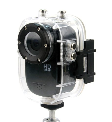 New 4-in-1 Waterproof 12MP 1080P Full HD Sports Action Camera Car Dashcam with G-Sensor Motion Detection 140 Degrees Wide Angle Lens HDMI H.264 DVR194 sj1000 camera 1080p hd for extreme sports camera - Black (Emerson Action Cam Digital Video compare prices)