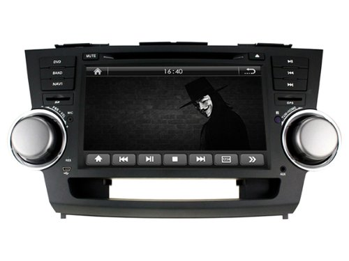 Generic Dvbt Tv Car Dash Dvd Player Gps Radio Bluetooth System For Toyota Highlander