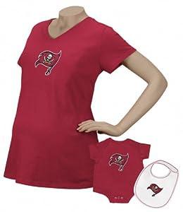 NFL Reebok Tampa Bay Buccaneers Maternity Logo T-Shirt & Infant Set - Red by Reebok