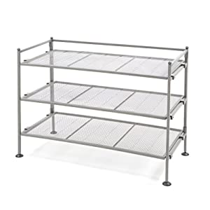 Click Here For fair Size Seville Classics 3-Tier Iron Shoe Utility Rack