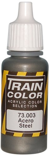 Vallejo Train Weathering Steel Paint, 17ml