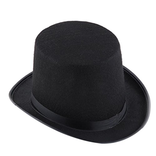 [Magic cap - Sandistore Black Hat Halloween Magician Magic Hat Jazz Hat (Black)] (Black Magic Woman Costume)