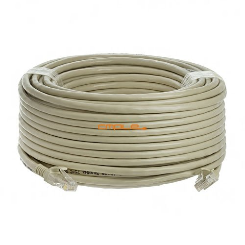 Cmple - CAT 6 500MHz UTP ETHERNET LAN NETWORK CABLE - 100 FT Gray