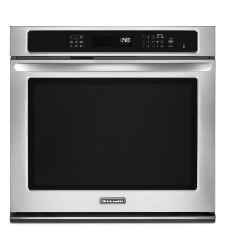 "Kitchenaid Kebs109Bbl Architect Ii 30"" Black Electric Single Wall Oven - Convection"