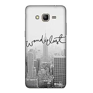 Hamee Thin Fit Crystal Clear Plastic Hard Back Case for Samsung Galaxy J7-6 (2016 Edition) (Grey Wanderlust)