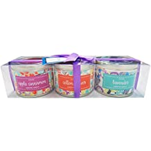 Danali New York - Gift Set Of 3 Scented Tin Candles - Flora (Apple Cinnamon, Cotton Flower And Lavender)