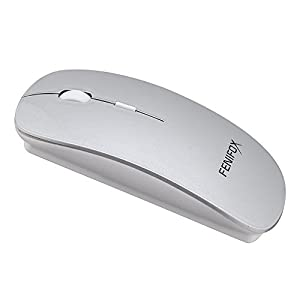 Bluetoothマウス薄型携帯内蔵充電式リチウムイオン電池、調節が可能DPI 800/1200 / 1600 (銀色)