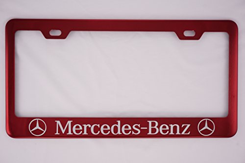 Mercedes-Benz Red License Plate Frame (Candy License Plate Frame compare prices)