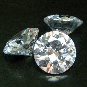 Round 8mm AAAAA Cubic Zirconia White CZ Stone Lot of 10 Pieces