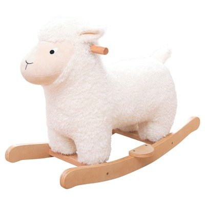 Jojo Maman Bebe Sheep Rocker, White - 1