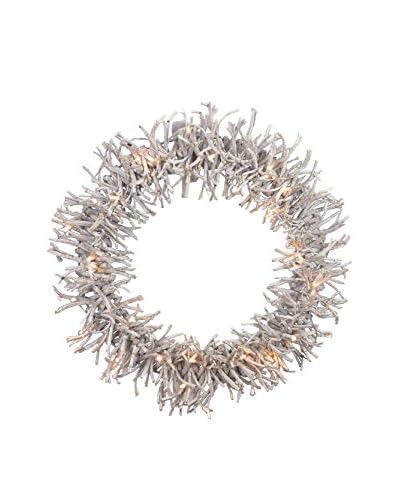 21 Twig LED Wreath, Natural
