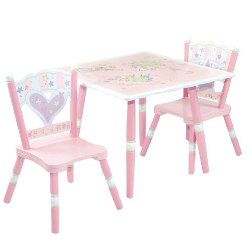 Levels Of Discovery Fairy Wishes Table and 2 Chair Set Pink/White