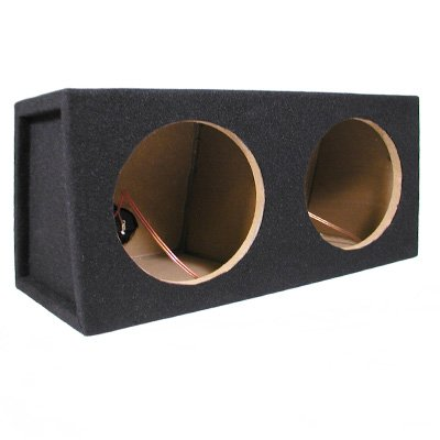 New Dual Car Black Subwoofer Box Sealed Automotive Enclosure for Two 8