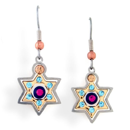 Star of David Judaic Earrings with Hypoallergenic stainless steel ear wire from the Artazia Collection #2304 JE