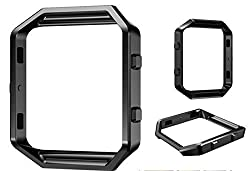 Fitbit Blaze replacement metal Stainless Steel sqaure housing frame DAYJOY Accessory Frame for Fitbit Blaze(BLACK)