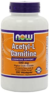 NOW Foods Acetyl L-Carnitine 500mg, 200 Vcaps