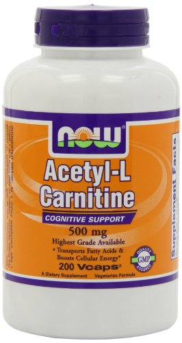 Now Foods NOW Foods Acetyl L-Carnitine 500mg, 200 Vcaps