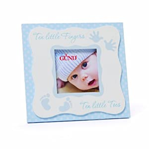 Gund Baby Square Photo Frame, Blue