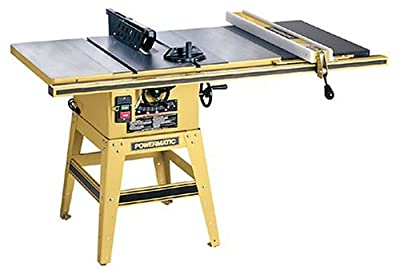 Powermatic 1791227K Model 64 Artisan 10-Inch Left Tilt 1-1/2-Horsepower Contractor Saw with 30-Inch Accu-Fence and 2 Cast Iron Extension Wings, 115/230-Volt 1-Phase