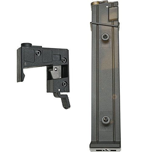 Evike Angel Custom 9mm Airsoft AEG M4 M16 To MP5 Magazine Adapter Conversion Kit - Package w/ High Cap Magazine - (46966) (Custom Airsoft M4 Parts compare prices)