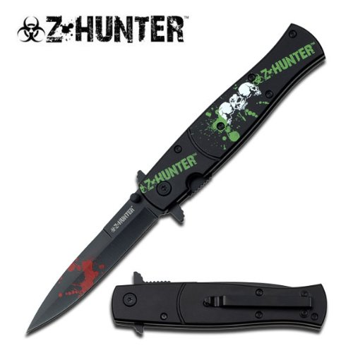 Z Hunter Zb-092Bh Spring Assisted Knife, 4.75-Inch Closed