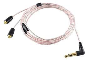 SS 標準MMCXケーブル 5N(99.999%)高純度OFC導体採用 イヤホン用ケーブル 1.2m 3ヶ月間の製品保証適用