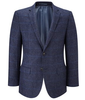 Viyella Viyella Blue Tweed Jacket REGULAR MENS 44