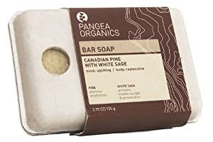 Pangea Organics Bar Soap, Canadian Pine With White Sage, 3.75-Ounce Box