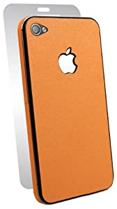 BodyGuardz BZ-AROI4-0512 Armor Rindz Ultra-Thin Stylish Full Body Scratch Protection for Apple iPhone 4/4S - Includes Ultra Tough Screen Protector - 1 Pack - Decal - Retail Packaging - Tangerine Slice