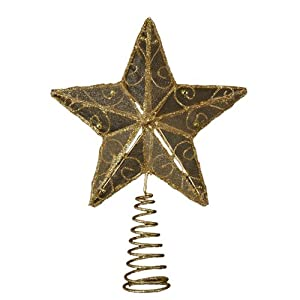 #!Cheap Kurt Adler 6-1/4-Inch Gold Wire Star Treetop