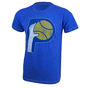 Indiana Pacers NBA Hardwood Classic Contrast Stitch T-Shirt S by Majestic Threads