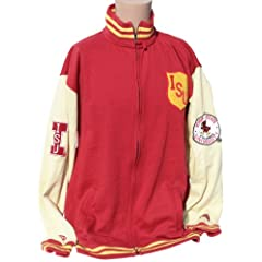 NCAA Iowa State Cyclones Mens Varsity LetterMens Jacket, Cardinal Gold by Donegal Bay