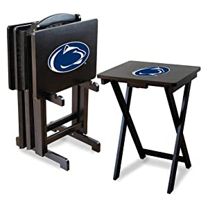 NCAA Penn State Nittany Lions TV Snack Trays with Storage Rack (Set of 4) by Imperial