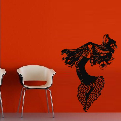 Wall Decal Art Decor Decals Sticker Fashion Woman Dance Girl Beauty Sexy Love Poster Modern Lady Bedroom (M29) front-486732