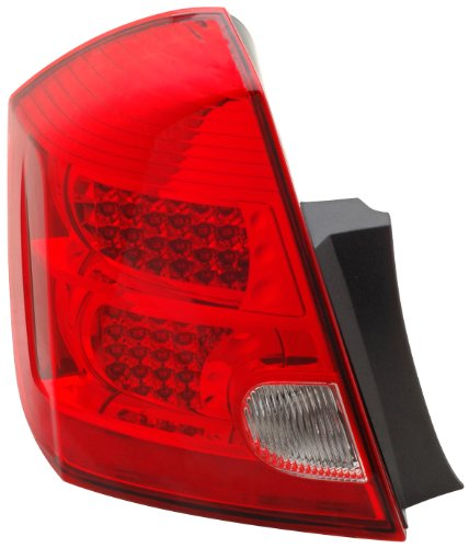 Anzo USA 321166 Nissan Sentra Red/Clear LED Tail Light Assembly - (Sold in Pairs)