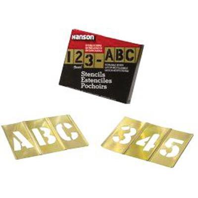 SEPTLS33710156 - Brass Stencil Letter Number Sets