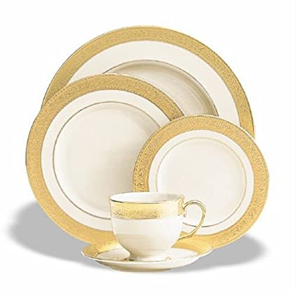 Lenox Westchester Gold-Banded Fine China Dinnerware 5 Piece Set - Service for 1