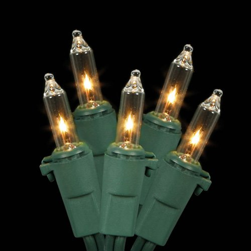 Clear Bulbs with Green Wire Darice Deco Lights 20 Count LED with Timer 10-Feet