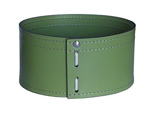 KOME 533: Set svuota tasche in cuoio rigenerato composto da 3 pezzi, colore Verde Oliva.