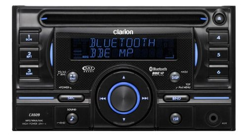 Clarion CX609E Double Din Bluetooth Receiver for CD/USB/MP3/WMA/AAC