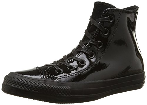 Converse, All Star Hi Patent/Suede Sneaker,Donna, Nero (Black), 37