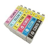 IC6CL50 エプソン 互換インク IC50 EPSON 6色セット ICチップ付 1年保証付